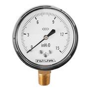 Manómetro 15 In H2o Para Gas Lp Y Natural Baja Presión