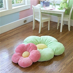 Almohada Decorativa Para Niña En Forma De Rosa Verde Chica