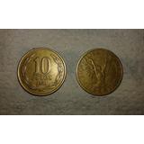 Lote 74 Monedas 10 Y 5 Pesos Ángel De La Libertad 81 - 90