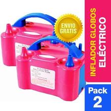 Pack 2 Inflador Globos Eléctrico 2 Inyectores / Onlineclub