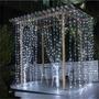Cortinas Led De 340 Luces Para Navidad Eventos Decoraciones