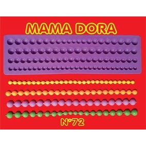 Molde Silicona Mama Dora Perlas X4 Reposteria Porcelana Fria