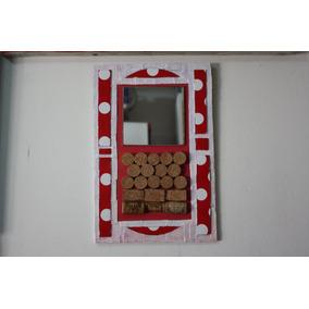 Pizarra Con Espejo Y Corchos