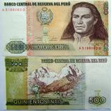 Cedula Do Peru 500 Intis 1987 P 134b - Fe