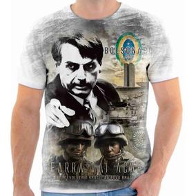 Camiseta Camisa Blusa Estampa Jair Bolsonaro Presidente 100