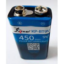 Bateria Recarregável 9v Knup Ko-bt9v 450mah