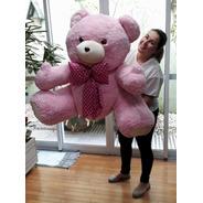Urso De Pelúcia Gigante Rosa 100cm Vai Cheio Envio Imediato