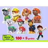 100 Recortes Apliques Patrulha Canina 4,5cm + 5 Unid Gratis