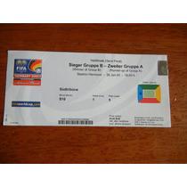 Boleto Semifinal Copa Confederaciones México- Argentina 2005