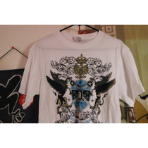 Camisa Playera Basic Concepts Outfiters Vintage White Grifo