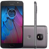 Celular Moto G5s Platinum Motorola Tela 5,2 4g 32gb 16mp