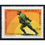 Argentina 1987 Gj 2366** Me 1660 Mint 75º Federación Agraria