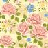 nº 135 Floral Colorido Fundo Amarelo