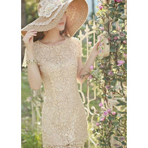 Hermoso Vestido Elegante Tipo Crochet