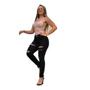 Calça Skinny Preta Jeans Cs003 By Bellatotti