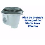 Piscina Vias De Drenaje Principal De Vinilo Gris