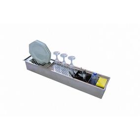 Escorredor P/ Louças De Embutir 90cm Aço Inox Escovado Cnox