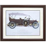 Quadro Gravura Calhambeque 1910 Daimler Com Moldura