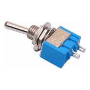 10x Chave Alavanca Mts-101 Interruptor 2t Ld Spst 6a Arduino