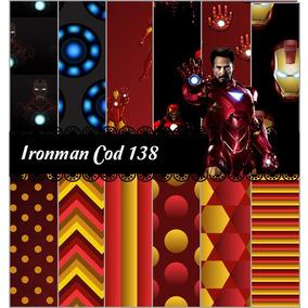 Kit Imprimible 3x1 Iron Man #138 Fondos Imagenes Png