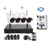 Cctv Kit Dvr 4 Cámaras Seguridad Wireless Inalambrica+ Dd 1t