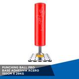 Punching Ball Pro Base Adhesiva Acero 150 Cm X 29 Kg