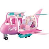 Barbie Avión Rosado Glamour Vacaciones Jet Lujo