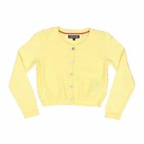 Cardigã Infantil De Tricô Amarelo Tommy Hilfiger 3a