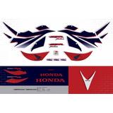 Kit Jogo Faixa Adesivos Honda Cbr 1000rr Hrc 2007 10007hr