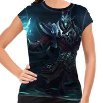 Camiseta League Of Legends Karthus Voz Mortal Baby Look