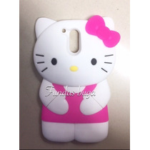 Funda Moto G4 Y Plus Kitty Hello Silicon Silicon Botarga
