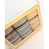 Caja De Pañuelos Puro Algodón X3. Ideal Para Regalar