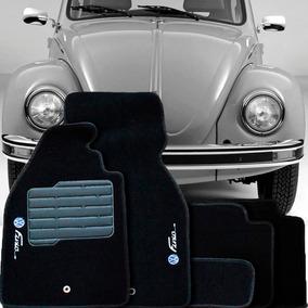 Tapete Carpete Confort Bordado Fusca 1959 Até 1996 5 Peças