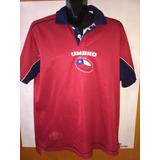 Camiseta Selección Chilena, Año 2002, Talla L, Marca Umbro.