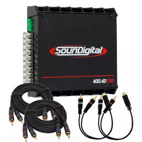 Módulo Sd400 Soundigital Evo 4 Ohms 4 Canais 400w Potencia