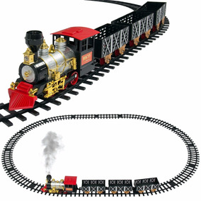 Trenzinho De Brinquedo Locomotiva Com Trilhos E Vagões