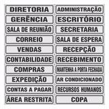 Placas Indicativas Escritório, Salas Departamento 25x5cm