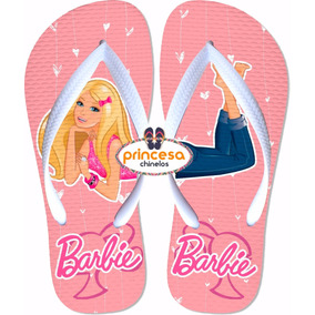 Chinelo Barbie Infantil Menina Barato Feminino 30 Pares
