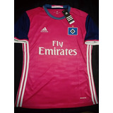 Camiseta adidas Hamburgo Fc Suplente Rosa 2017 Alemania