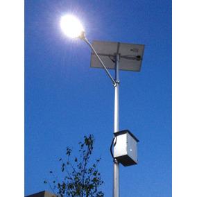 Kit Luminaria Solar 40w, Paq. Completo Con Poste E Iva