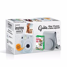 Câmera Instax Mini 9 Branco Gel+ Filme10fotos + Case Camera