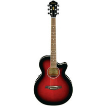 Guitarra Electroacústica Ibanez Aeg8e Trs Red Nueva Garantia