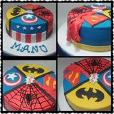 Torta Super Heroe Batman/ Superman/iron Man/hulk
