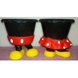 Cachepô Enfeite Mesa Aniversário Festa Minnie Mickey - 10 Un