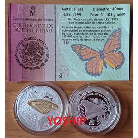 Medalla Mariposa Monarca 1 Oz Dije Ala Estuche Certicado Cm
