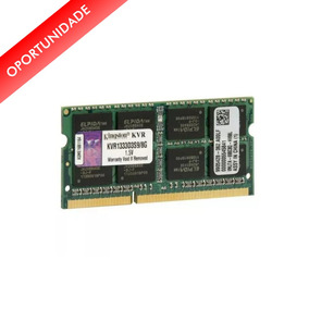 Memória Notebook 8gb Ddr3 1333 Mhz - Kingston - Box - Novo