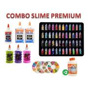 Combo Slime Premium 6 Adhesivos + 2 Act + 48 Decoraciones