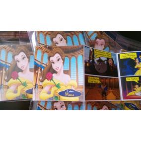 12 Invitaciones Comic Bella Y Bestia Tipo Historieta Nuevas!