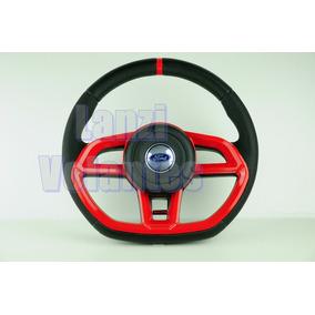 Volante Esportivo Golf Gti Ford Eco Fiesta Ka Vermelho +cubo
