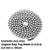 Colar Corrente Aço Inox Com 60 Cm P/ Dog Tag